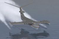 ekranoplan km 3d model