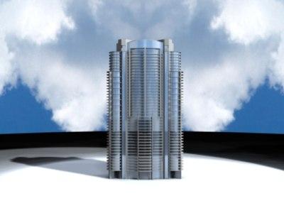 santa maria condo brickel 3d model