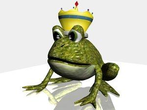 frog prince 3d model
