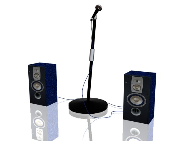 maya speakers microphone
