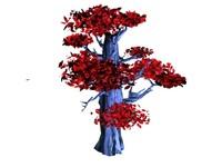 3d tree purple