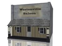 3d model old saloon