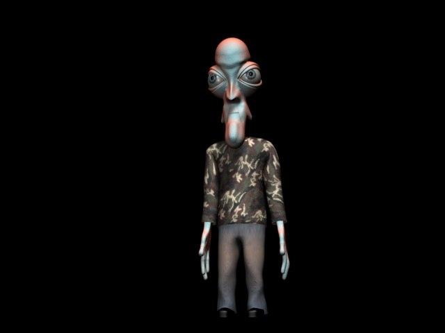 character capsule 3d model