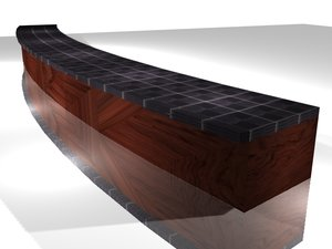 tuna bar table 3d max