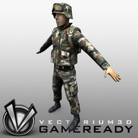 3d max soldier military man