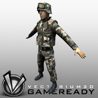 3ds soldier military man