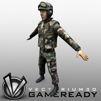 3d soldier military character