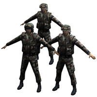3d soldier military character model