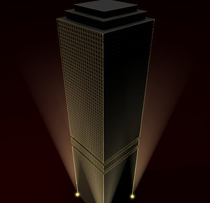 cinema4d fiction skyscraper