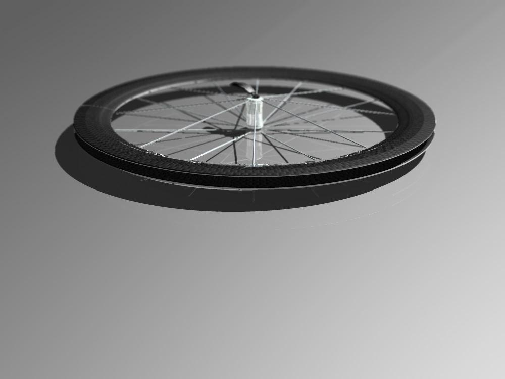 carbon fiber wheel road bike 3d model