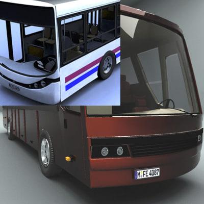 3d urban request bus model