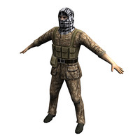 terrorist fighter 3d model