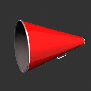 3d megaphone