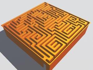 inverted maze 3d model