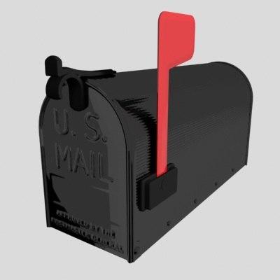 mail box mailbox 3d model