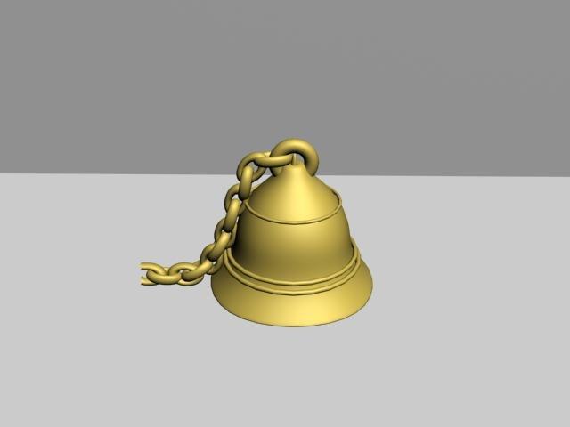 3d golden bell model
