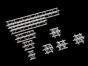 components stage trussing 3d model