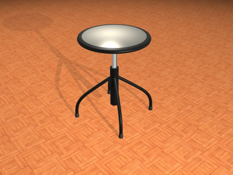 commercial swivel stool 3d max