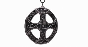 3d model celtic pendant