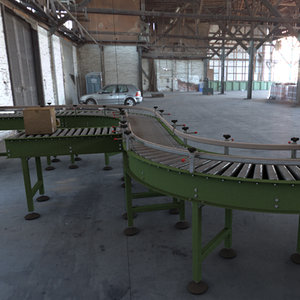 roller conveyors construction kit 3d model