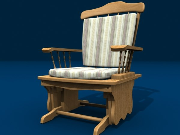 glider rocker rocking chair 3d model