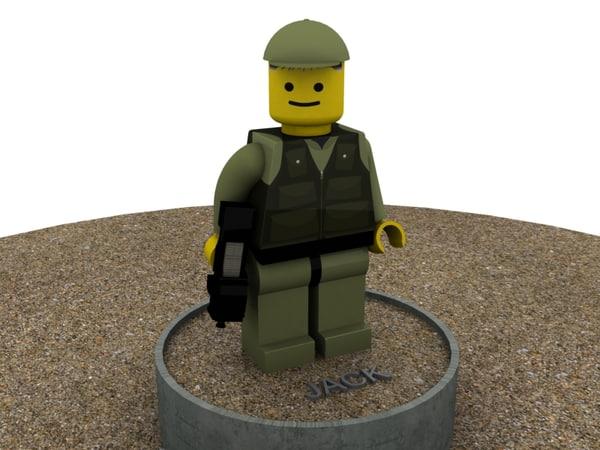 lego man stargate 3d model