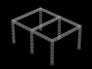 3d box truss model