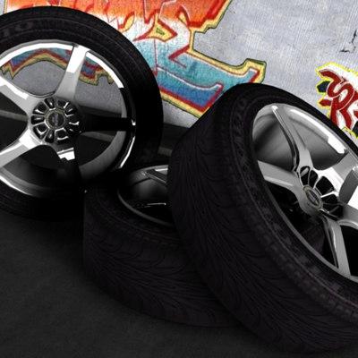 3ds enkei wheel