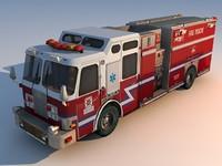 truck firetruck 3d model