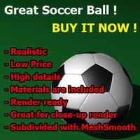 realistic soccer ball great 3d model