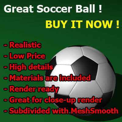 realistic soccer ball great 3d model