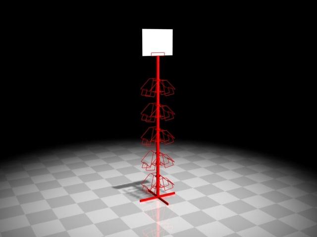 3d display wire rack