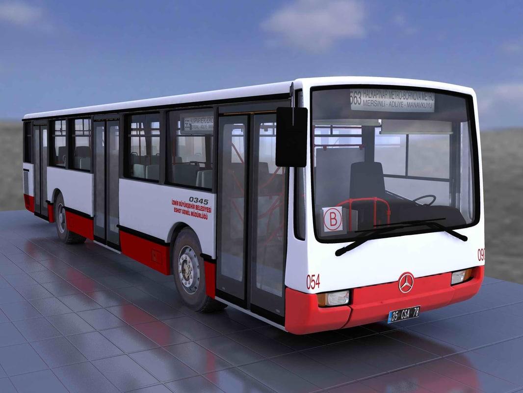 3d mercedes bus