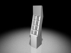 3d model corrugated display