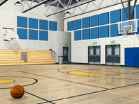 basketball gym 3d model