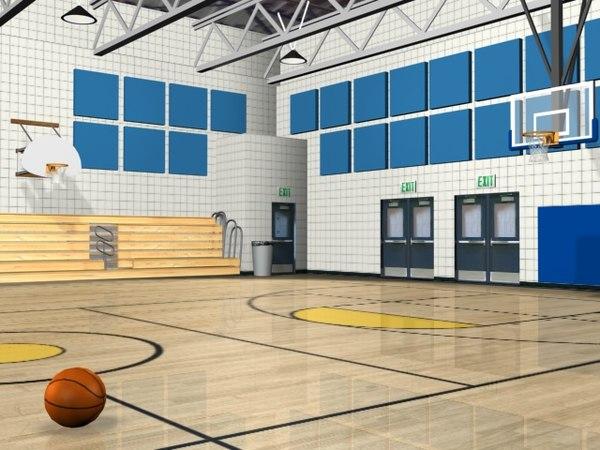 basketball gym 3d model