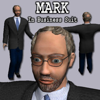 Older Balding Man (Mark) in Business Suit