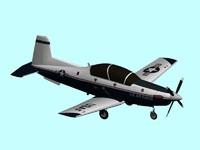raytheon t-6a texan ii 3d model