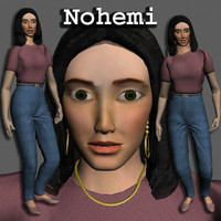 Woman (Nohemi) - Dark Hair, Casual Dress