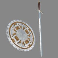 3d celtic shield