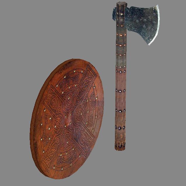 3d model of targe axe