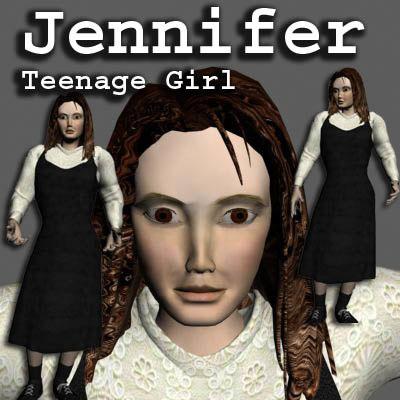 max jennifer dark haired teenage