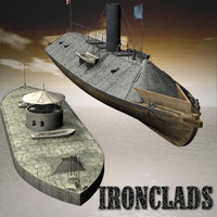 3d ironclads civil war model