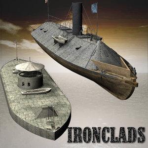 3d ironclads civil war model