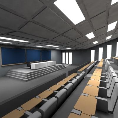 auditorium desks 3d max