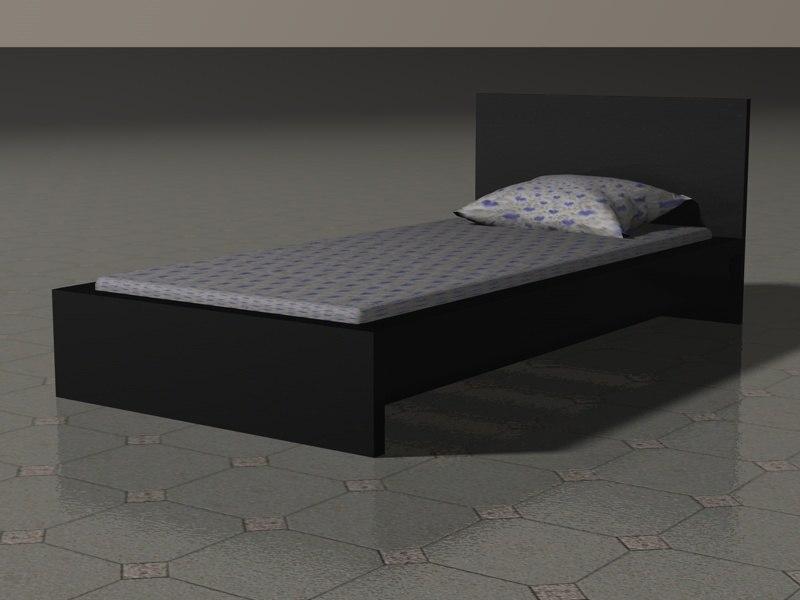 malm bed 3d model