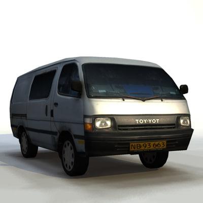3ds max minibus toyota