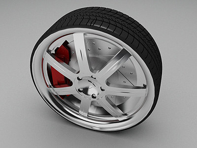 profile wheel sumoto tire rim 3d model