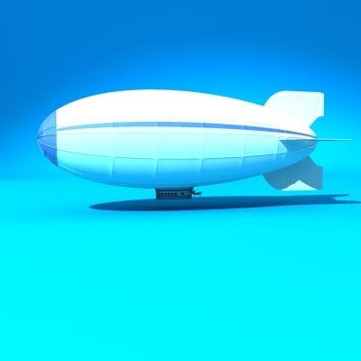 3d model blimp zeppelin airship
