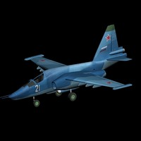 su-39 anti-tank aircraft 3d max